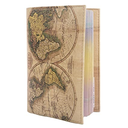 Eco leather passport cover for travel documents holder designer case eco leather passport cover for travel documents holder designer case men women world map gumiabroncs Image collections