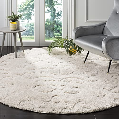 Safavieh Florida Shag Collection SG470-1111 Scroll Textured 1.18-inch Thick Area Rug
