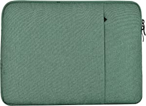 """KECC 11-12"""" Sleeve for MacBook 12"""" A1534 / MacBook Air 11"""" A1465/A1370 Laptop Protective Case Canvas Bag with Pocket for Surface Pro 5,4,3, Chromebook, Acer, Asus Notebook (Green)"""