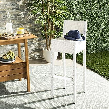 Miraculous Amazon Com Safavieh Fox5212C Collection Landry White Machost Co Dining Chair Design Ideas Machostcouk