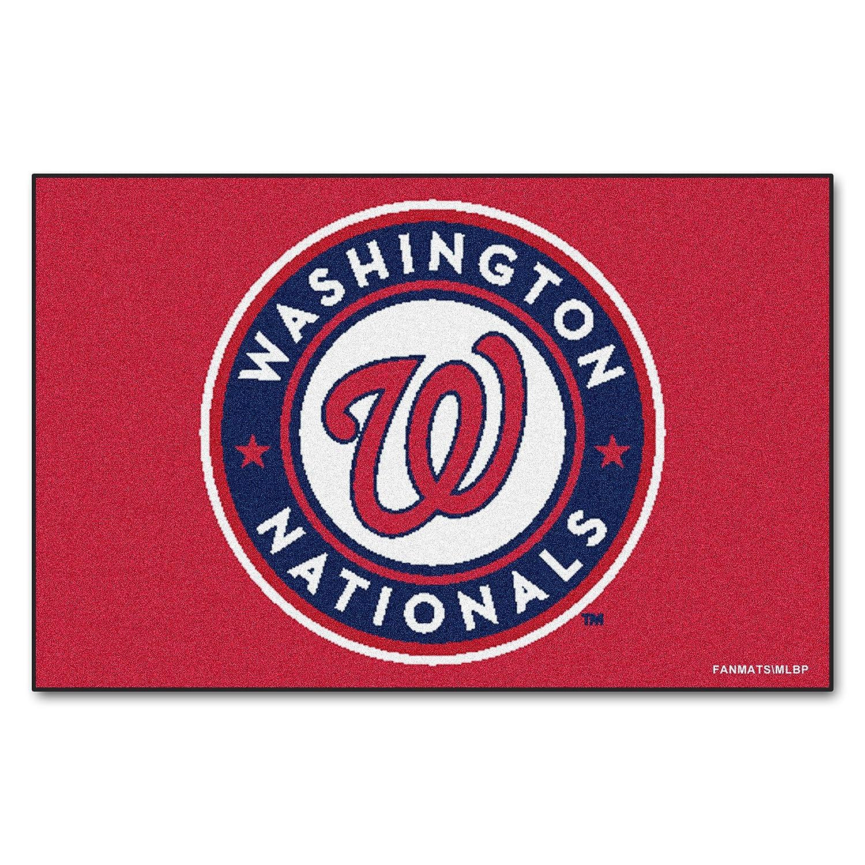 FANMATS MLB Washington Nationals Nylon Face Baseball Rug