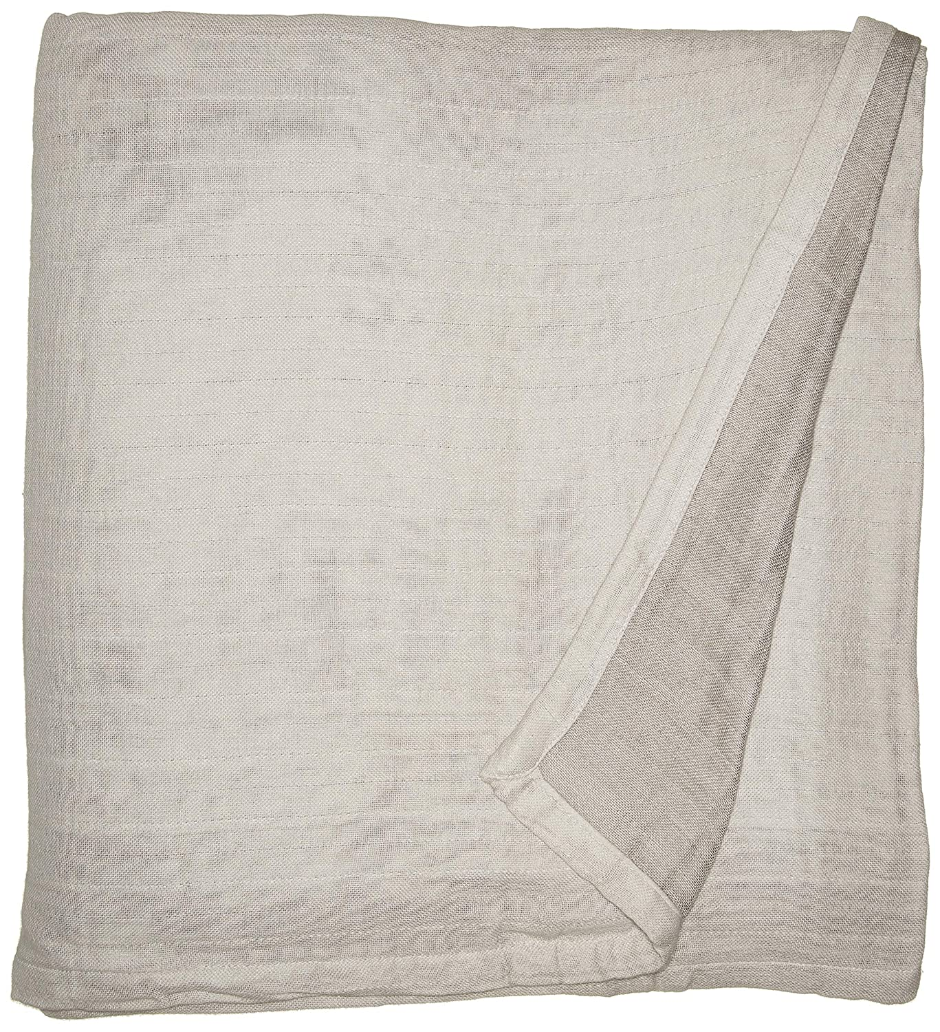 Kenneth Cole Reaction Home Soft & Cozy Reversible Cotton Woven Blanket - Full/Queen - Silver