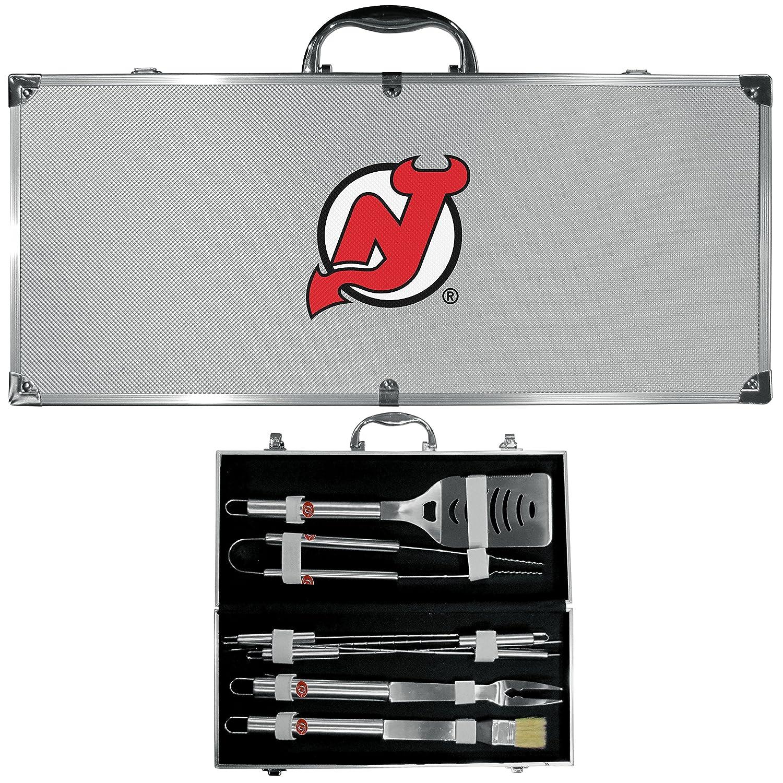 NHLユニセックス8 pcステンレススチールバーベキューセットW /メタルケース B073R4MK3N 8 piece Tool Set|グレー|New Jersey Devils グレー 8 piece Tool Set