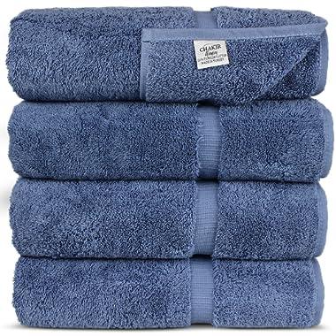 Luxury Hotel & Spa Towel Turkish Cotton (Bath Towel - Set of 4, Wedgewood)