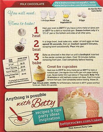 Amazon Betty Crocker Supermoist Cake Mix Milk Chocolate
