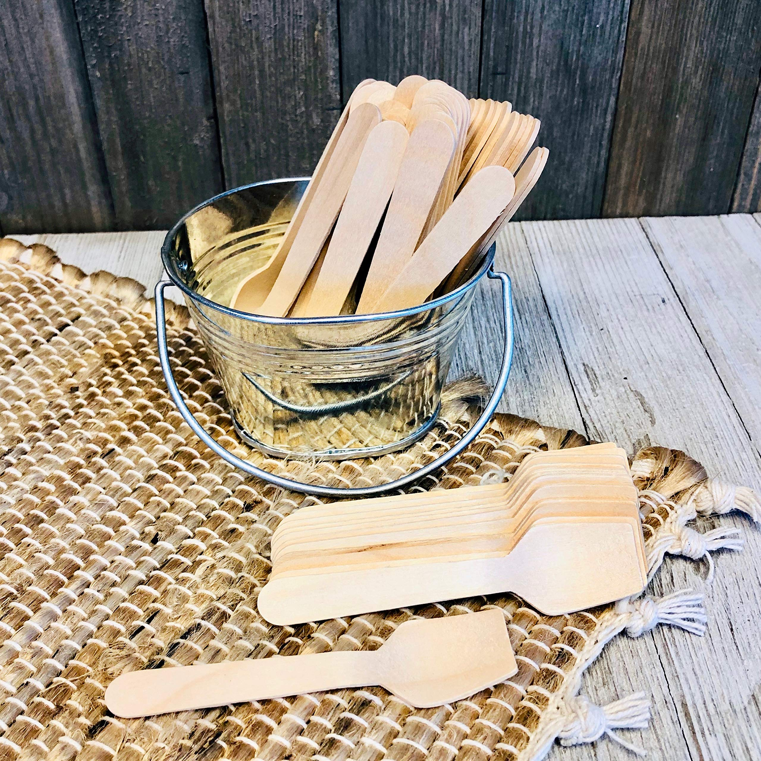 Bulk Mini Wooden Spoons -Eco Friendly Disposable Biodegradable - 3.5 Inches - 300 Pack Outside the Box Papers Brand by Outside the Box Papers