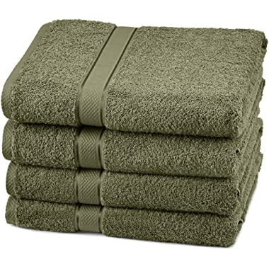 Pinzon 4 Piece Egyptian Cotton Bath Towels Set - Moss