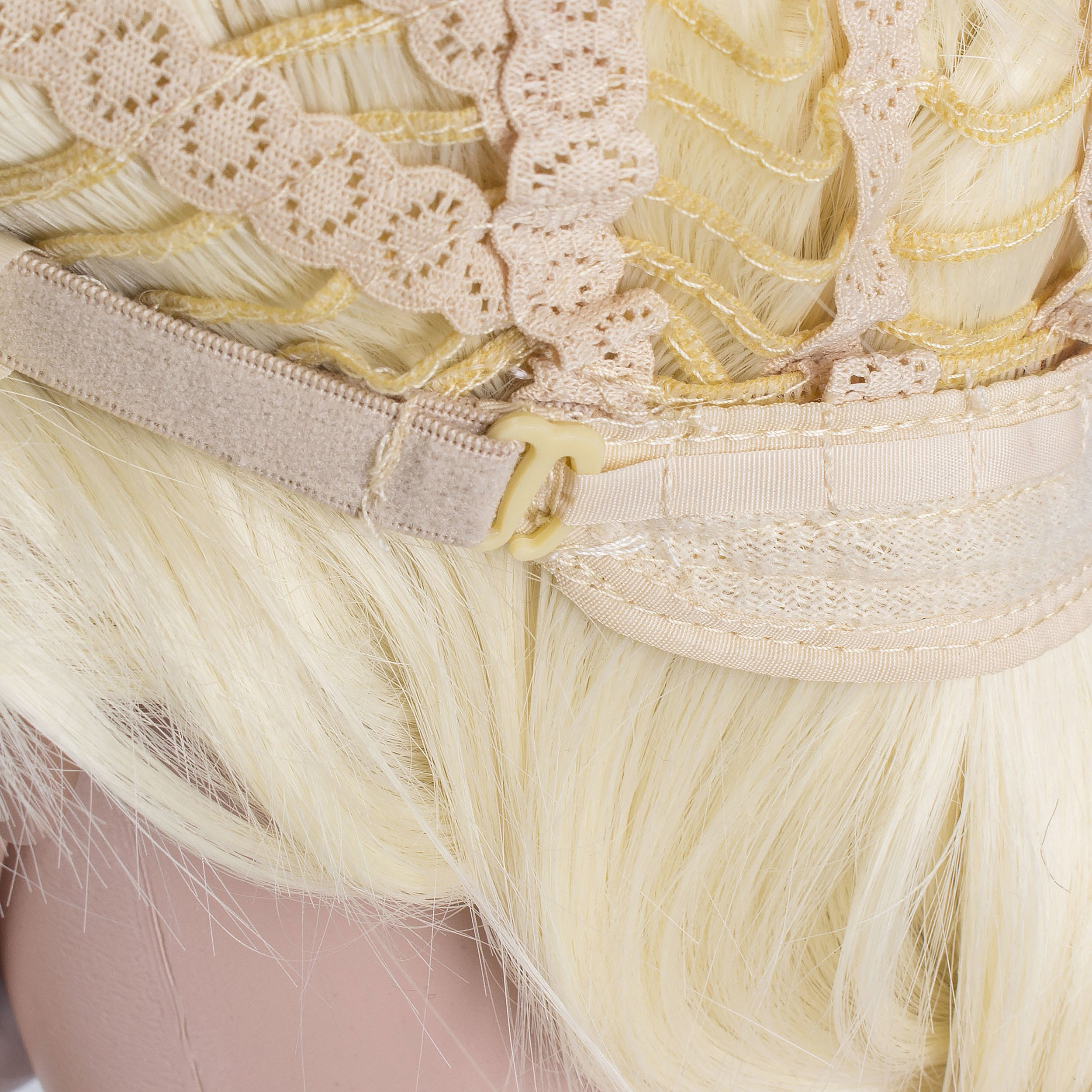 OneDor Long Braided Ponytail Cosplay Costume Light Blonde Wig by Onedor (Image #6)
