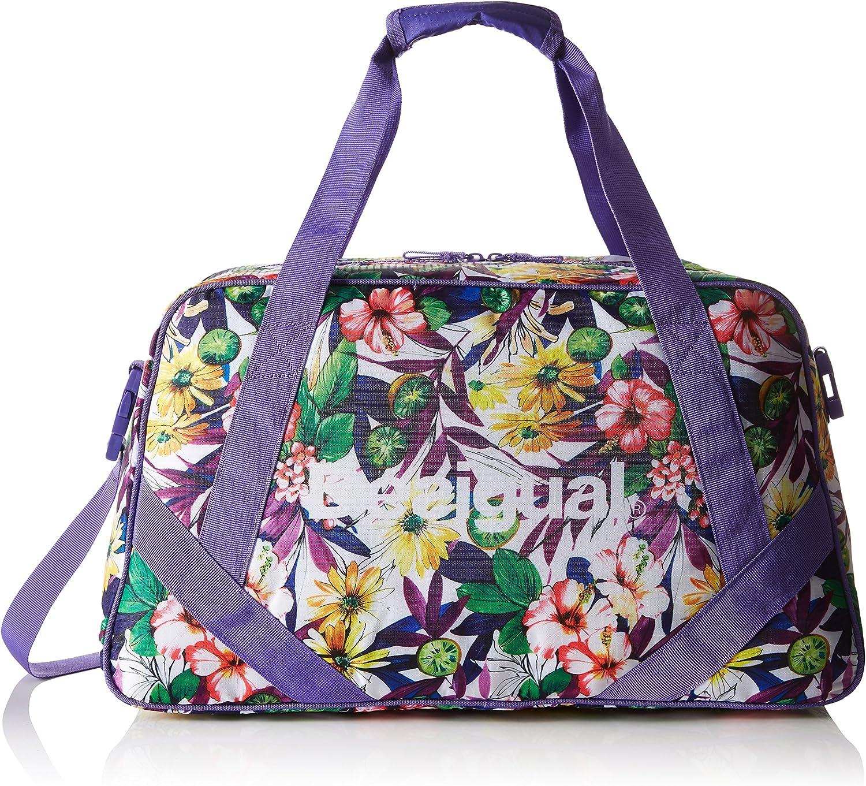 Desigual L Bag G, bolsa de medio lado para Mujer, Morado (3168 PURPLE OPULENCE), 13x34x45 cm (B x H x T)