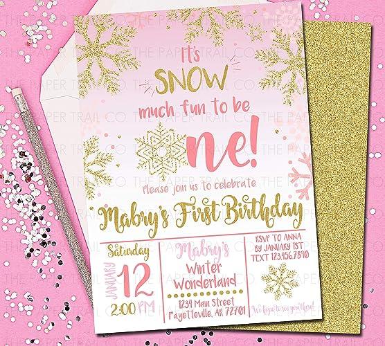 Amazon Com Winter Onederland Invitations 1st Birthday Invitations