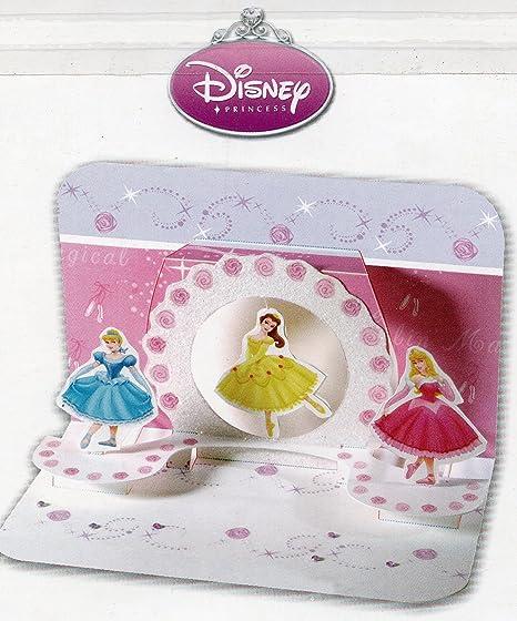 Carte Anniversaire Disney Avec Carte Message Et Enveloppe Ballerina