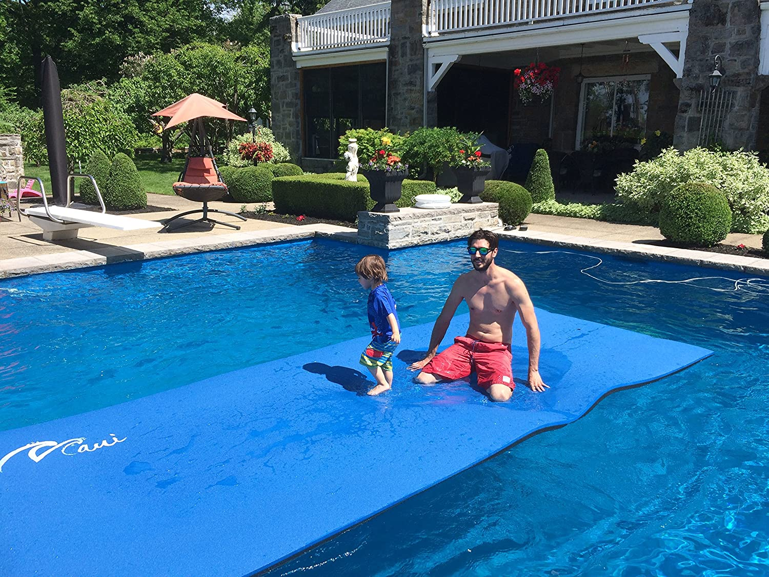 Floating Mats for Swimming Pools & Lakes - Blue Colour - 15\'x 6 ...