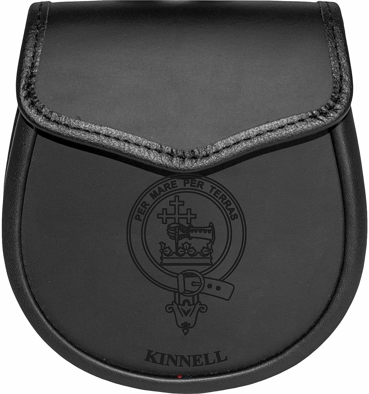 Kinnell Leather Day Sporran Scottish Clan Crest