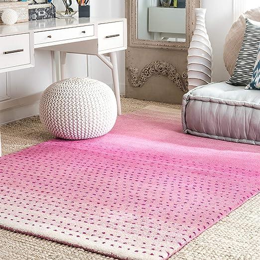 Nuloom Blush Hand Tufted Wool Rug 3 X 5 Pink Furniture Decor Amazon Com