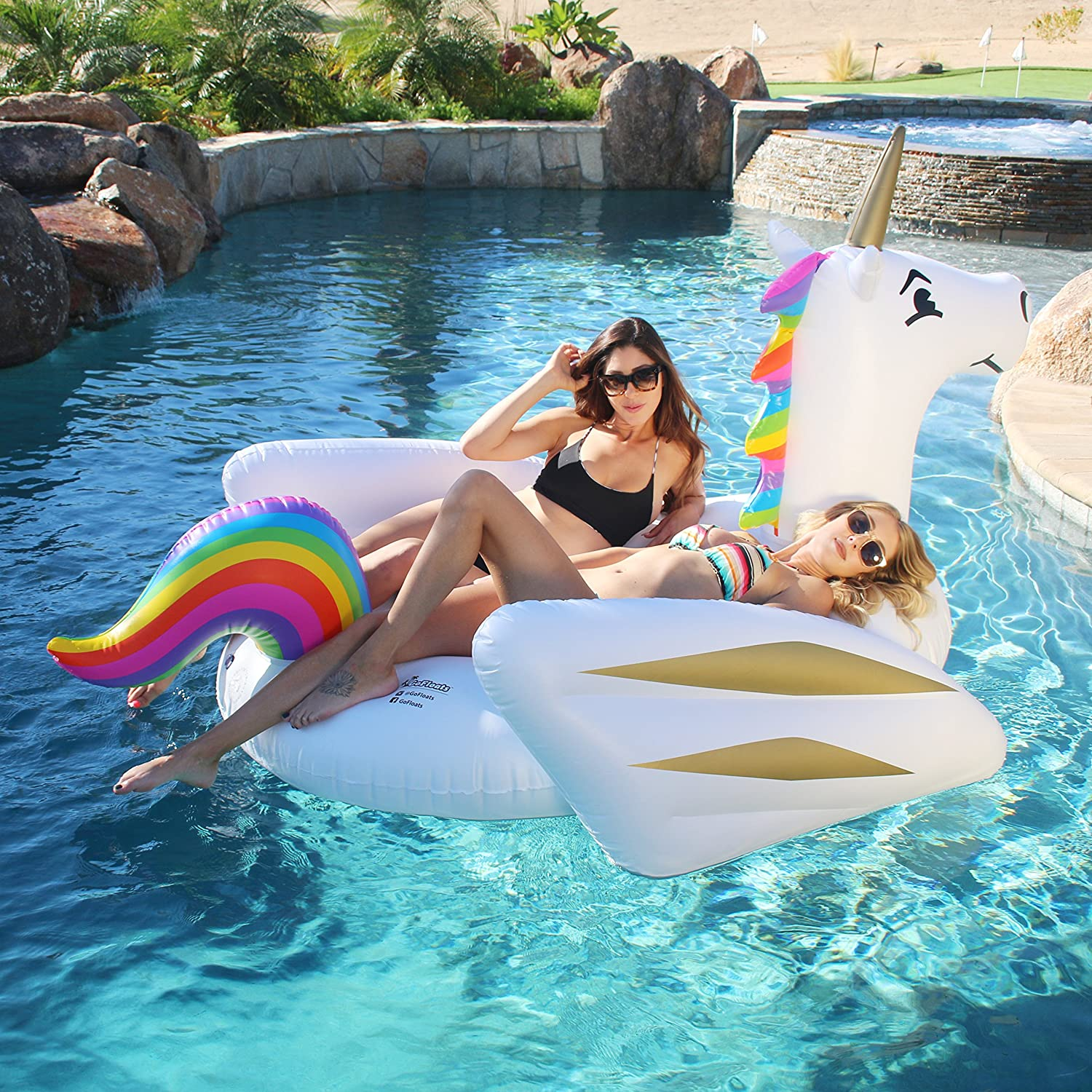 Amazon.com: GoFloats Giant Inflatable Unicorn Pool Float Raft Of  Awesomeness, Premium Quality And Largest Size (for Adults And Kids): Sports  U0026 Outdoors