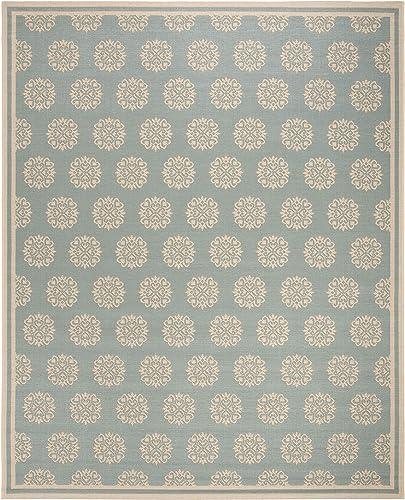 Safavieh Linden Collection LND181K Area Rug, 9 x 12 , Aqua Cream