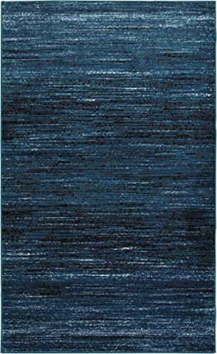 LR Resources Matrix LR81197-SBB7995 S.Blue Black Rectangle 7 x 9 ft 5 in Indoor Area Rug, 7 9 x 9 5 , Soft Blue
