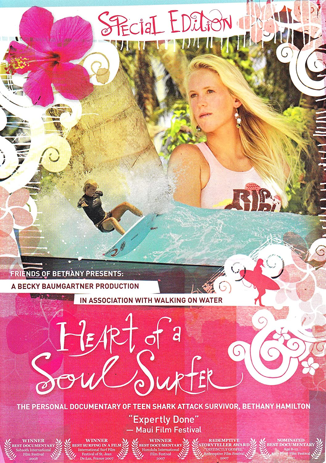 Amazon Com Heart Of A Soul Surfer Special Edition Dvd The Personal Documentary Of Teen Shark Attack Survivor Bethany Hamilton Bethany Hamilton Alana Blanchard Becky Baumgartner Becky Baumgartner Bethany Tom Noah Hamilton