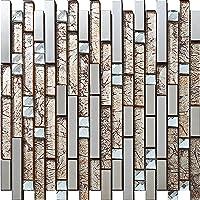 Plata oro pálido Mezcla de cristal de acero