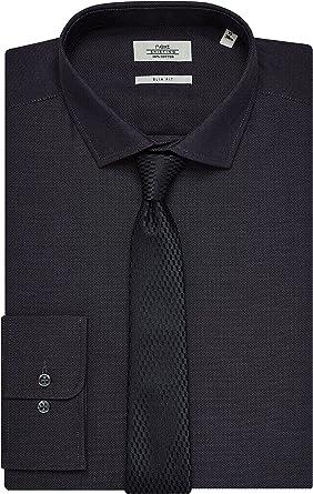 next Hombre Conjunto de Camisa y Corbata Textura Corte ...