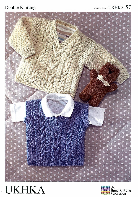 UKHKA/57 suéter con punto a y hipsocefalia de patrones de costura ...
