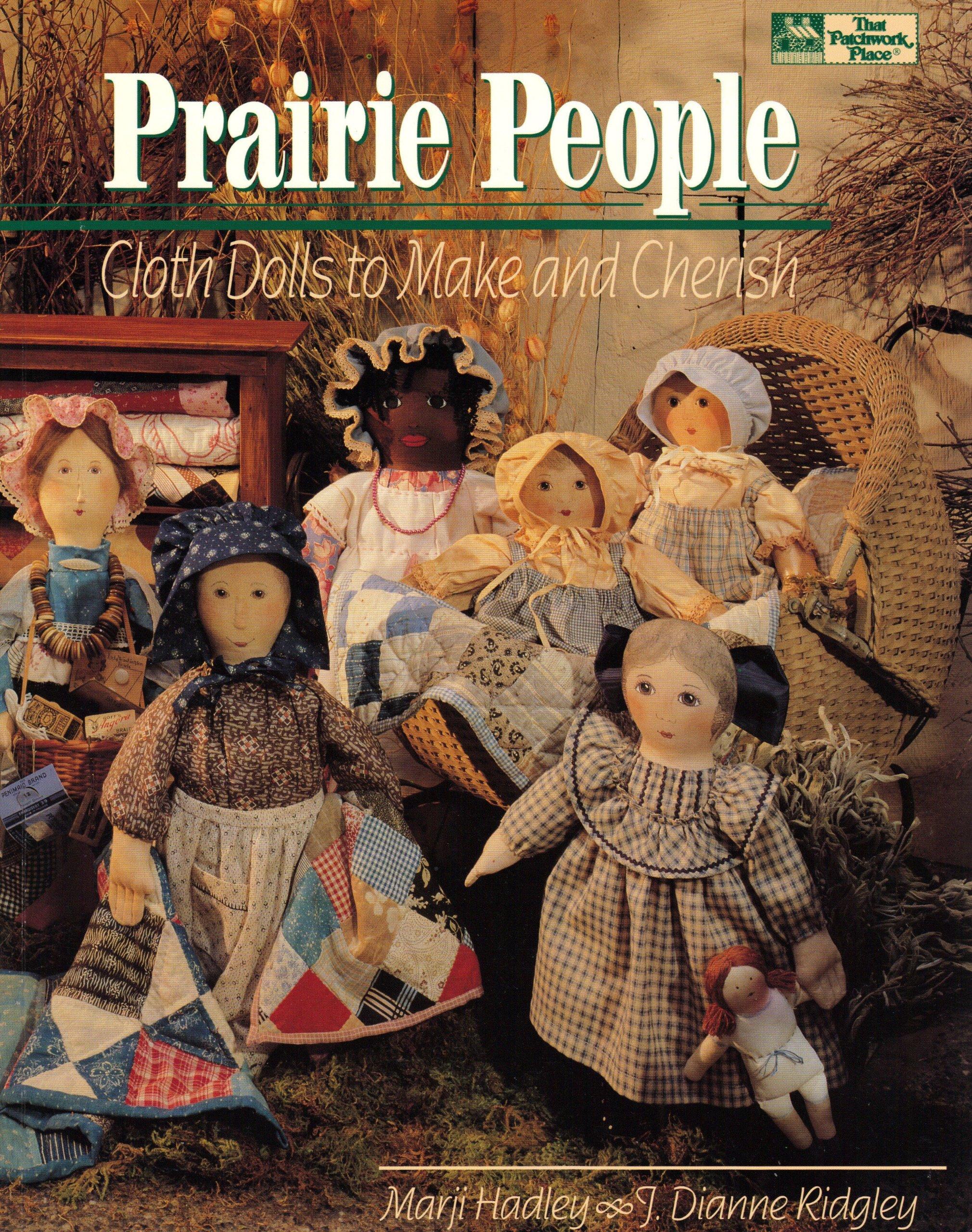 How To Make A Book Cover Cloth ~ Prairie people cloth dolls to make and cherish marji hadley j