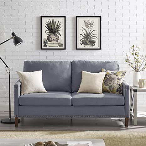 Amazon.com: Vintage Design Apartment Upholstered Sofa with ...