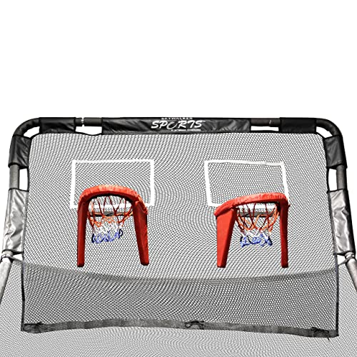Skywalker Trampolines Double Basketball Hoop Accessory for Skywalker 12' Round Trampolines