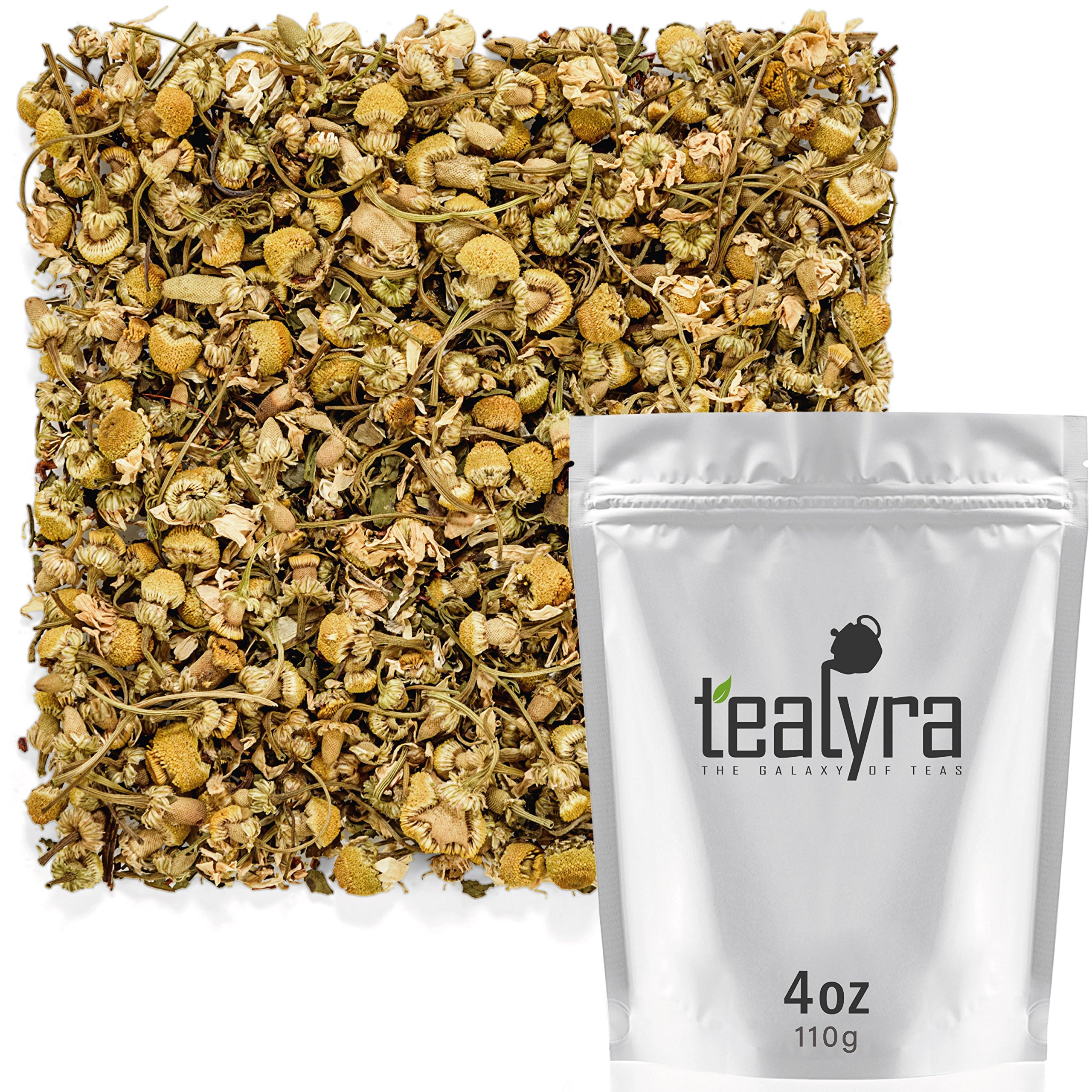 Tealyra - Lovely Night - Chamomile Rooibos Mint - Calming & Relaxing - Herbal Loose Leaf Tea - Antioxidants Rich - All Natural Ingredients - Caffeine-Free - 110g (4-ounce) by Tealyra