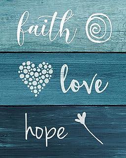 Hope Malden International Designs 20070-01 Faith Love Raised Sign