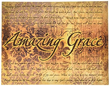 Ohio Wholesale Amazing Grace Canvas Wall Art from our Inspirational Collection  sc 1 st  Amazon.com : amazing grace wall art - www.pureclipart.com