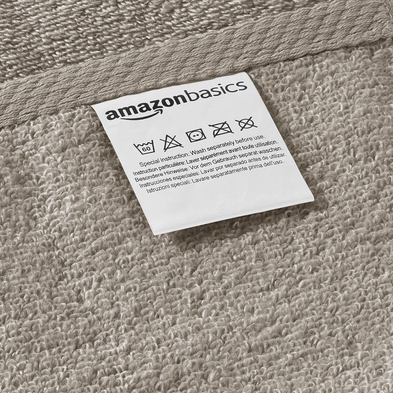 AmazonBasics - Juego de 6 toallas de secado rápido, 2 toallas de ...