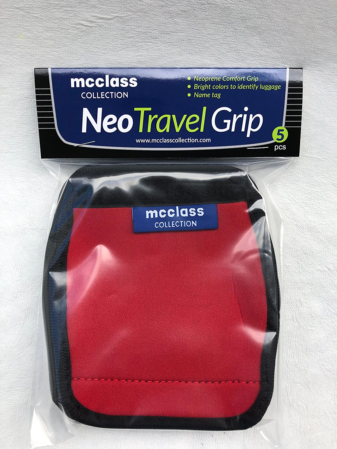 NeoTravelGrip Travel Luggage Handle Wrap Carry on Suitcase Name Tag