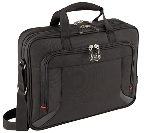 "Wenger 600649 PROSPECTUS 16"" Laptop Briefcase , Padded laptop compartment with iPad/Tablet / eReader Pocket in Black {15 Litres}"