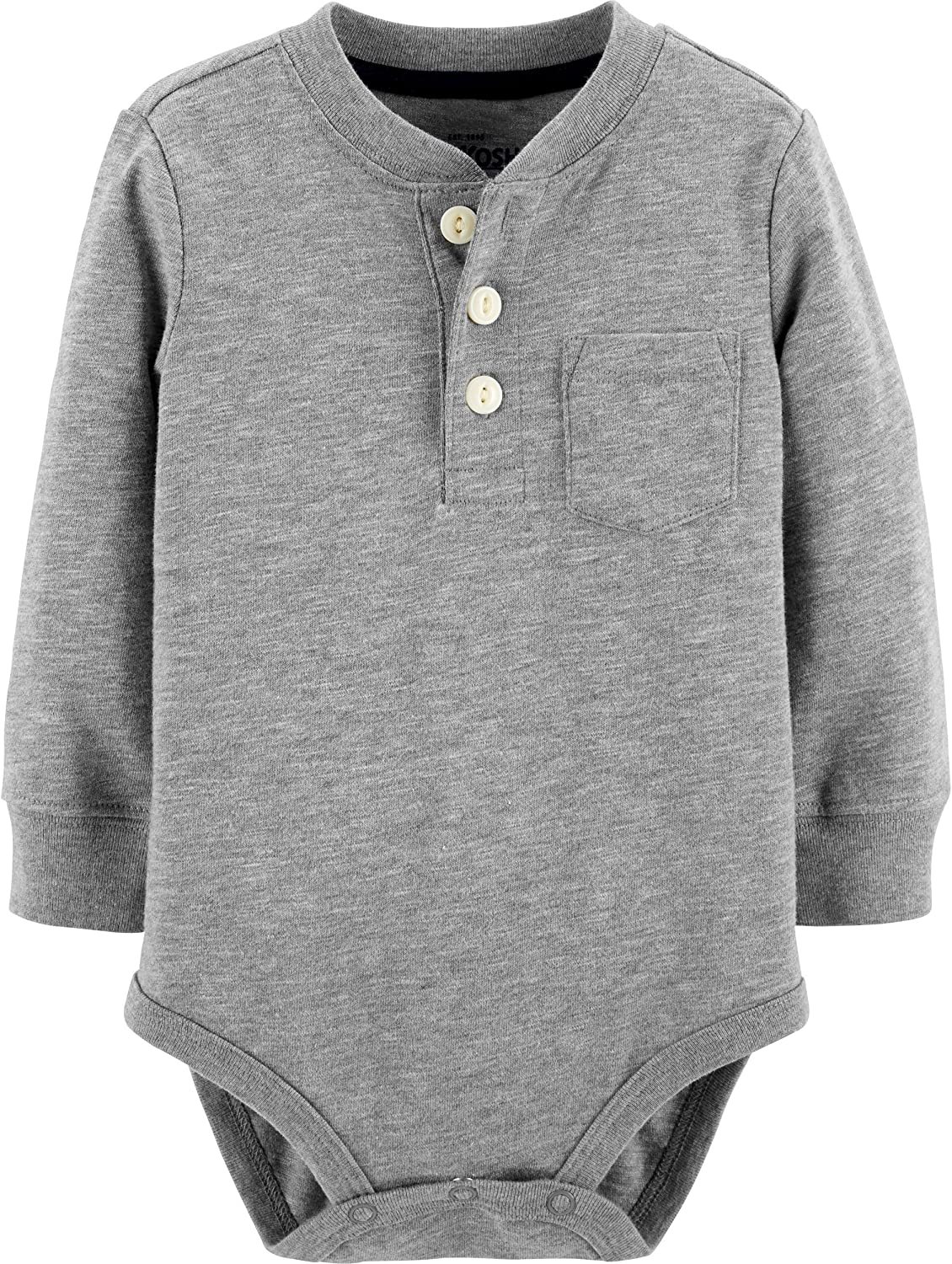 OshKosh BGosh Baby Boys Pocket Henley Bodysuits