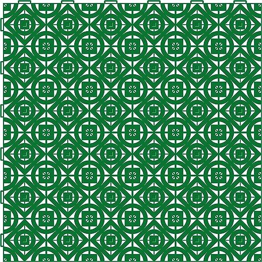 Pack 2 metros cuadrados de baldosas Loseplast de 50 Cm color Verde, incluye 8 losetas: Amazon.es: Jardín