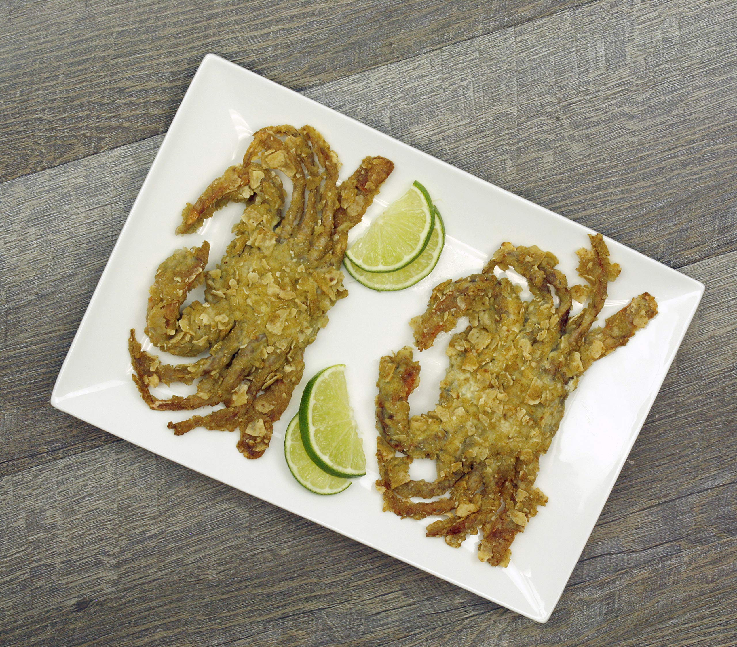 Par-Fried Jalapeno Tortilla Breaded Soft Shell Crabs (9 Ct - Primes)