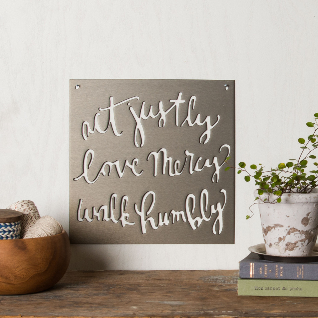 """Act-Love-Walk""​ Sign – The Magnolia Market"