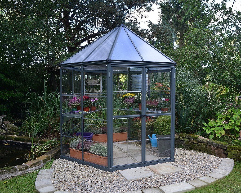 Palram HG6000 Oasis Greenhouse, 7 x 8 x 9 , Gray