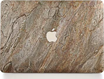 WOODWE/® Real Stone Macbook Skin for Mac Pro 13 inch With//Without Touch Bar Model: A1706//A1708//A1989//A2159; Late 2016 TOP ONLY SILVER GREY Stone 2019