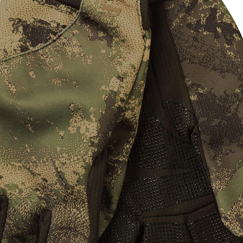 Schie/ßhandschuhe mit Touch Finger mit Tarnmuster Fleecehandschuhe f/ür die Jagd in Camouflage H/ärkila leichte Jagdhandschuhe Lynx f/ür Herren in AXIS MSP/®