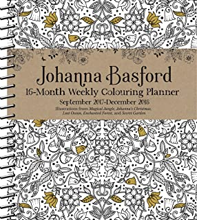 Official Johanna Basford 2017 2018 16 Month Diary