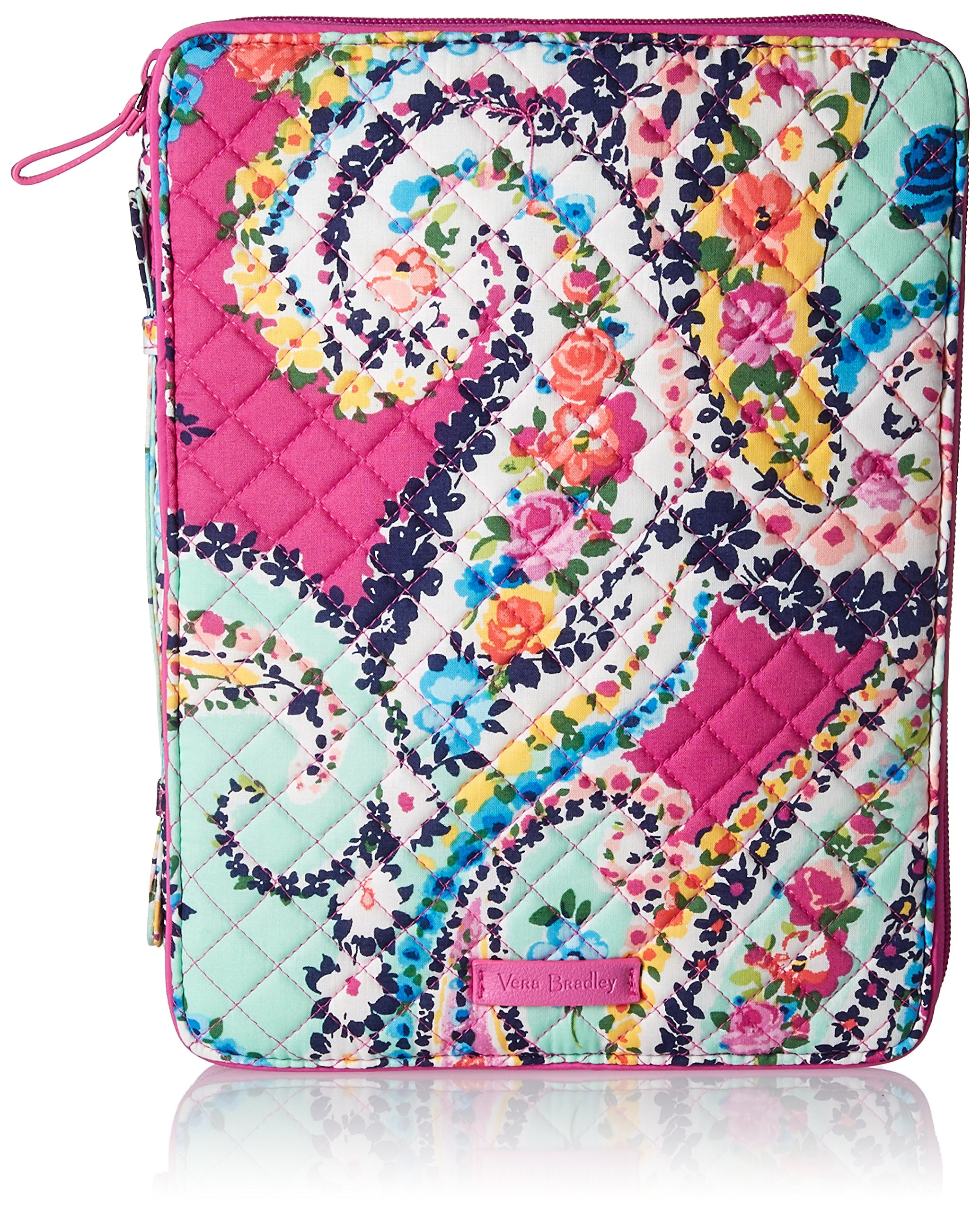 Vera Bradley Iconic Tablet Tamer Organizer, Signature Cotton, Wildflower Paisley, One Size