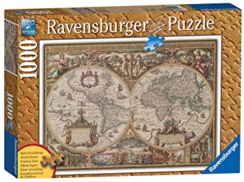 Ravensburger Antique World Map Pc Jigsaw Puzzle Amazoncouk - Antique world map picture