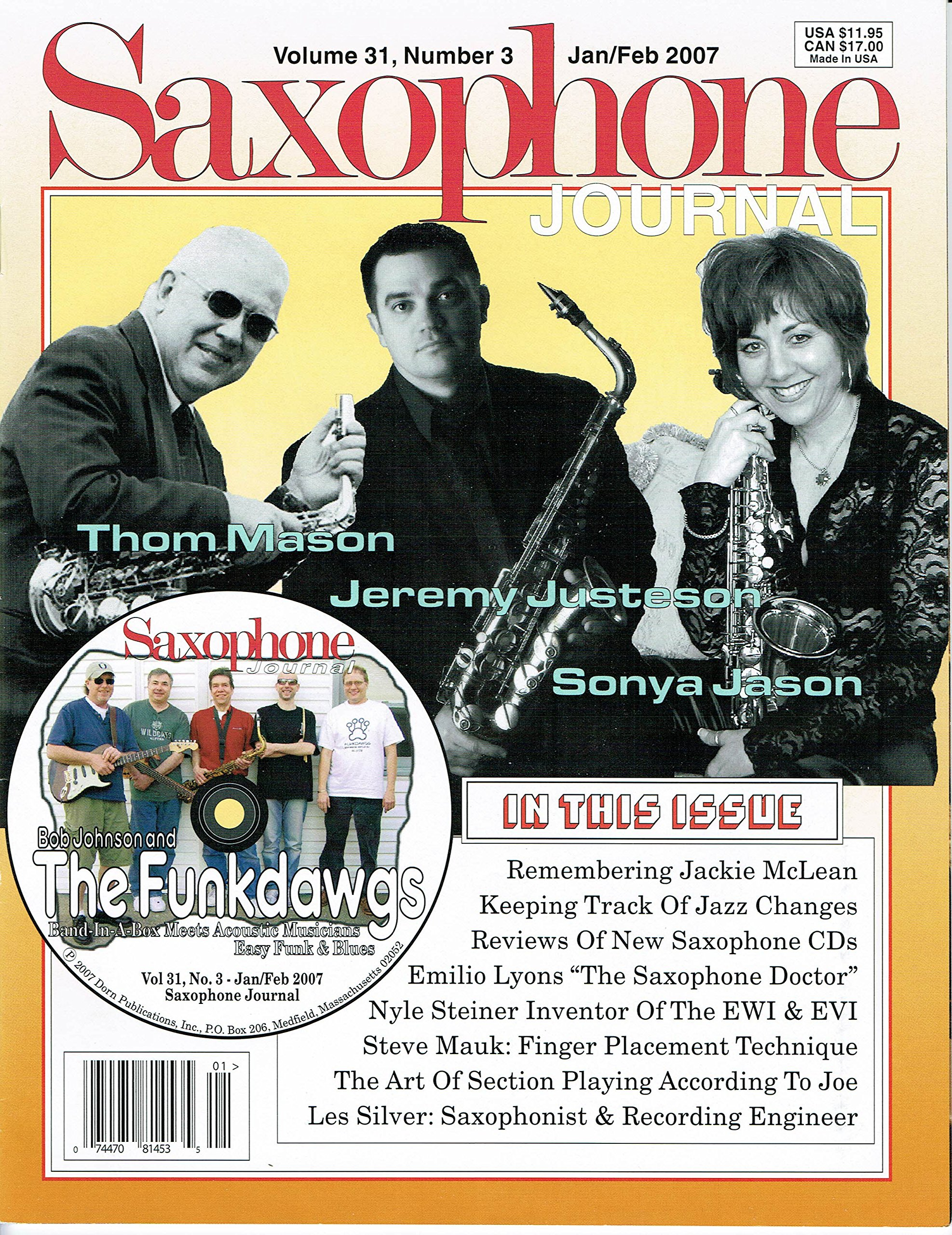 Download Bob Johnson and The Funkdawgs, Band in a Box Meets Acoustic Musicians, Easy Funk & Blues/ Play-Along CD by Bob Johnson Published by Saxophone Journal - 1/07 pdf epub