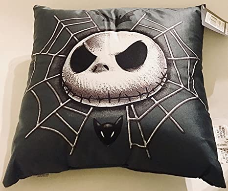 Tim Burtons The Nightmare Before Christmas Jack Skellington in Spider Web Small Toss Pillow 14 inch, 1 Pillow