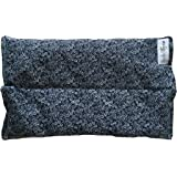 Ultra Premium All Natural Microwavable Aromatherapy Heating Pads - Certified Organic Herbs, Organic Flaxseed & Cherry Pit Filler- Medium- (Navy Blue)