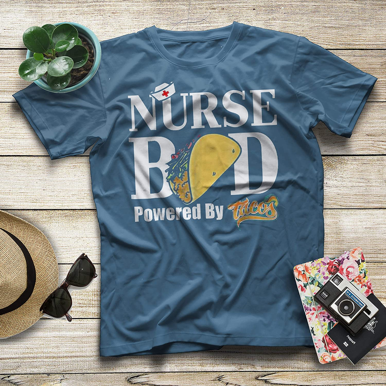 Diana Lysa Nurse Bed Powered by Tacos Funny Nurse T-Shirt