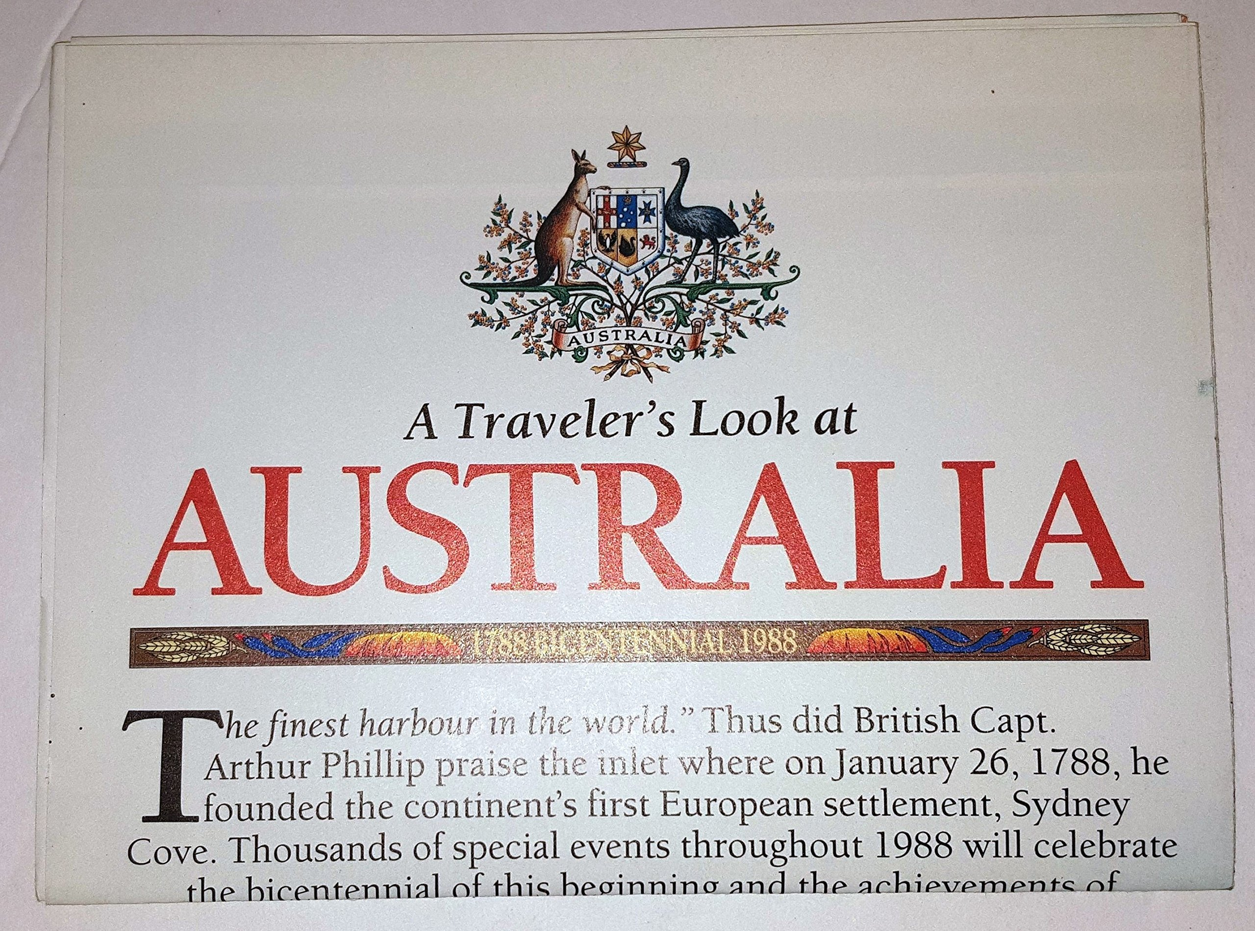 National Geographic Map - A Traveler's Look at Australia