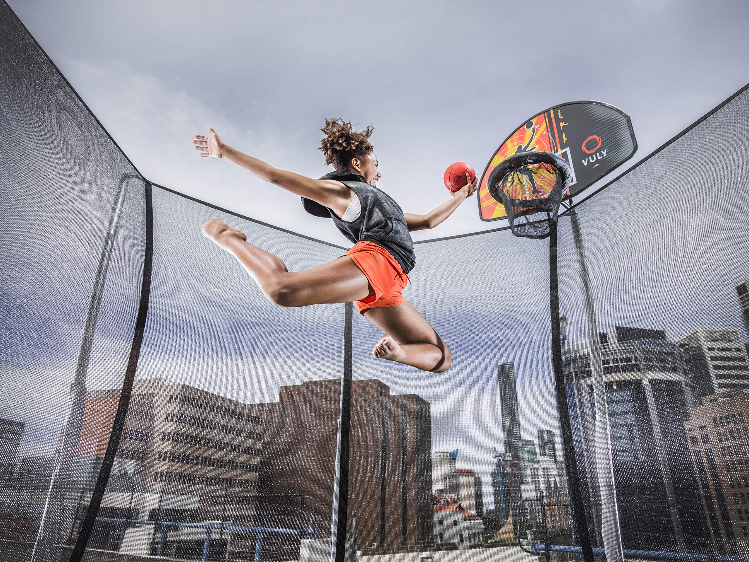 Vuly Basketball Hoop and Ball Set Compatible Trampolines 360 Swingsets by Vuly (Image #4)